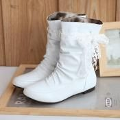 $12.99 Sweet bud silk bowknot decorated boots