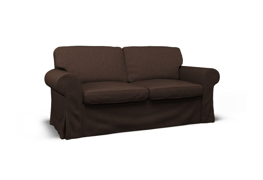 Cover for IKEA EKTORP two-seat sofa - Boss Brownie. Neutrals (black, grey, white, and brown) are basic to the decorator's tool kit. All-neutral schemes fall in and out of fashion, but their virtue lies in their flexibility: add color to liven things up; subtract it to calm things down. Comfortable brown is the Feng Shui color of Earth. Brown shades are the Chinese symbol of reliability, usability and consistency.