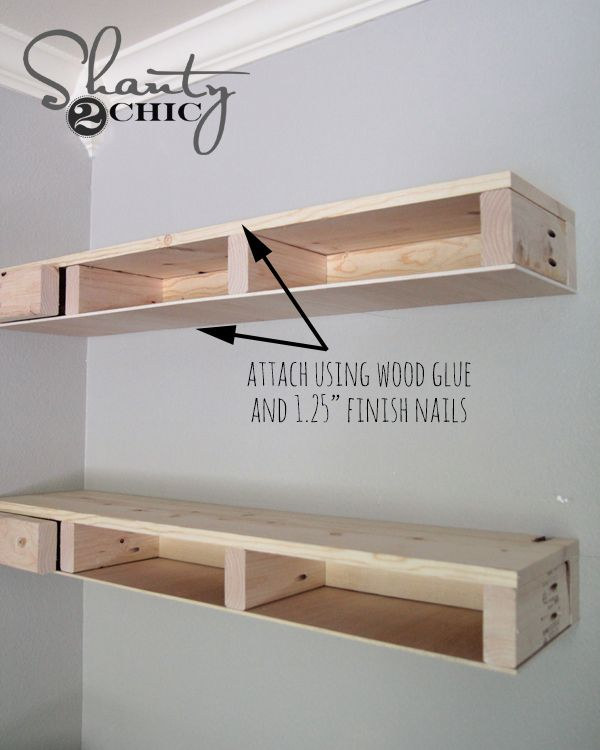 Wonderful DIY Floating Corner Shelves