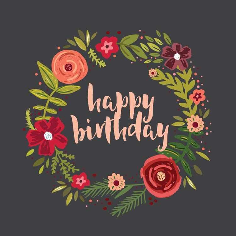 39 Beautiful Happy Birthday Wishes With Flowers Images Hd Free Download Happy Birthday Cards Printable Happy Birthday Floral Happy Birthday Flower