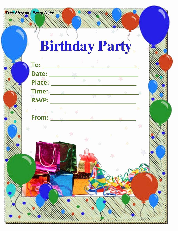 Birthday Invitation Templates Word Inspirational Birthday Invitations Template Party Invite Template Invitation Card Birthday Birthday Invitation Card Template