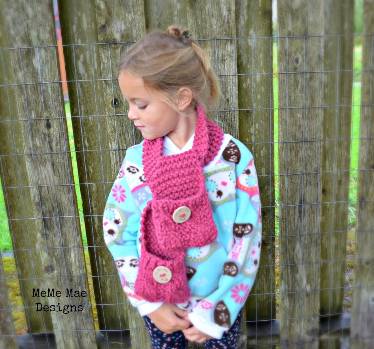 The Penny Pocket Scarf   Knitting patterns and Patterns