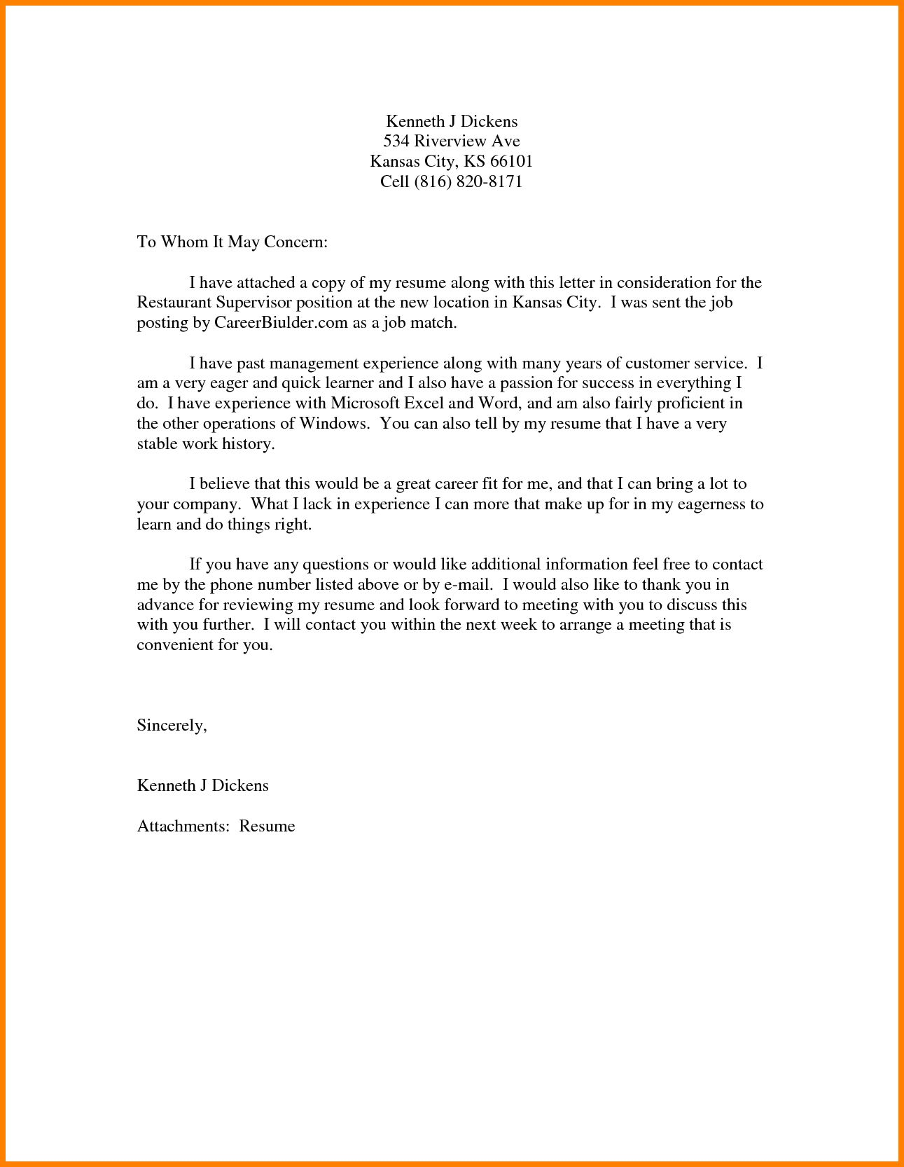 26+ Cover Letter To Whom It May Concern Cover letter for