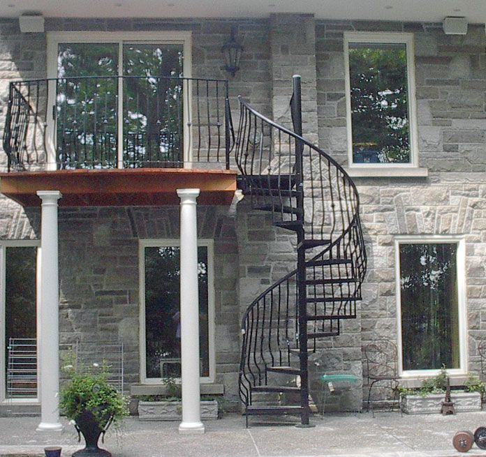 Best Image 12 Exterior Stairs Facade House Spiral Stairs 400 x 300