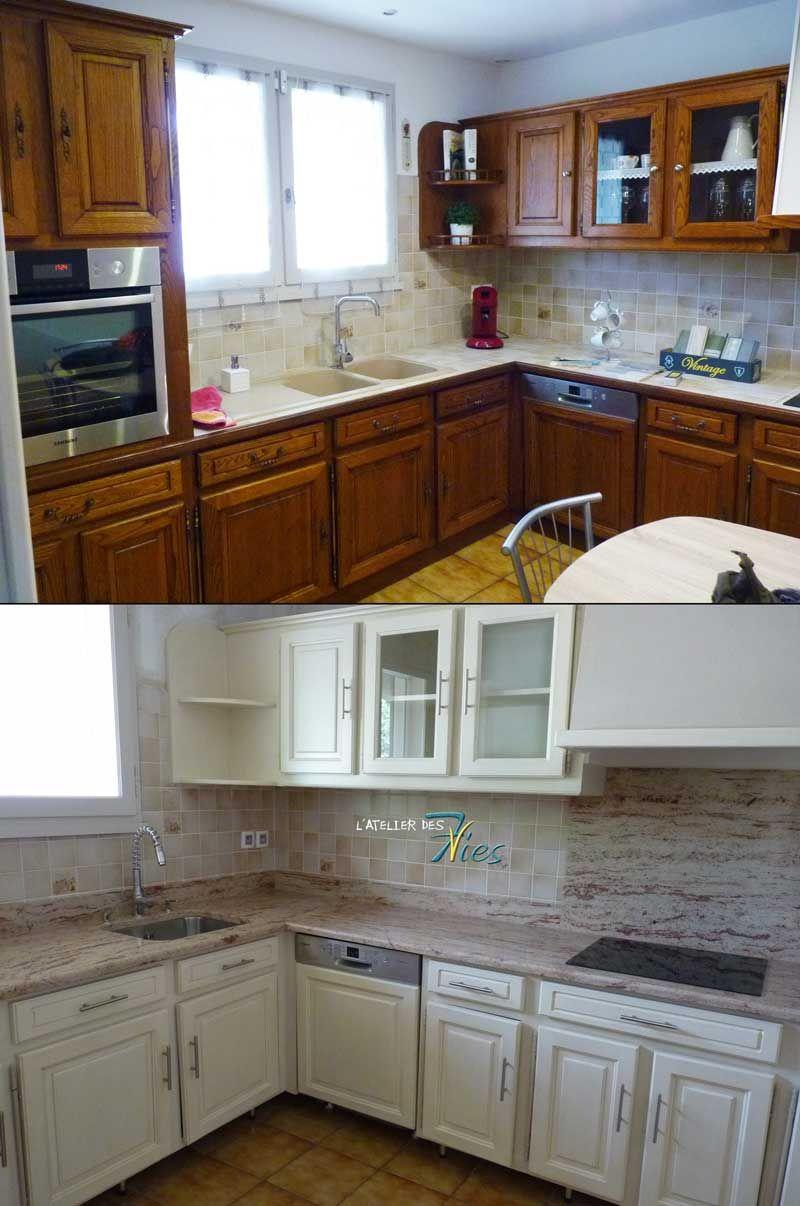 une cuisine avec un effet vein 7vies eleonore deco cuisines pinterest cuisine r nov e. Black Bedroom Furniture Sets. Home Design Ideas