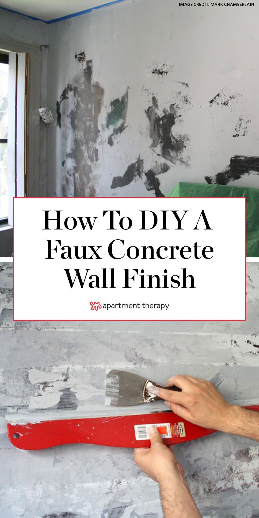 DIY Home Decor: How To Paint a Faux Concrete Wall Finish in 29