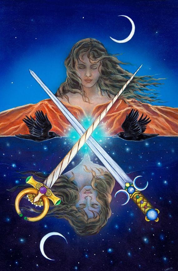 2 d'épées - The Star Tarot par Cathy McClelland | Twos | Star tarot