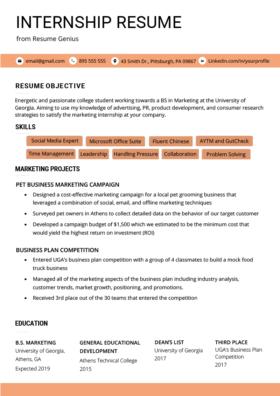 High School Student Resume Sample Writing Tips Resume Genius Resume Objective Student Resume Template Job Resume Examples