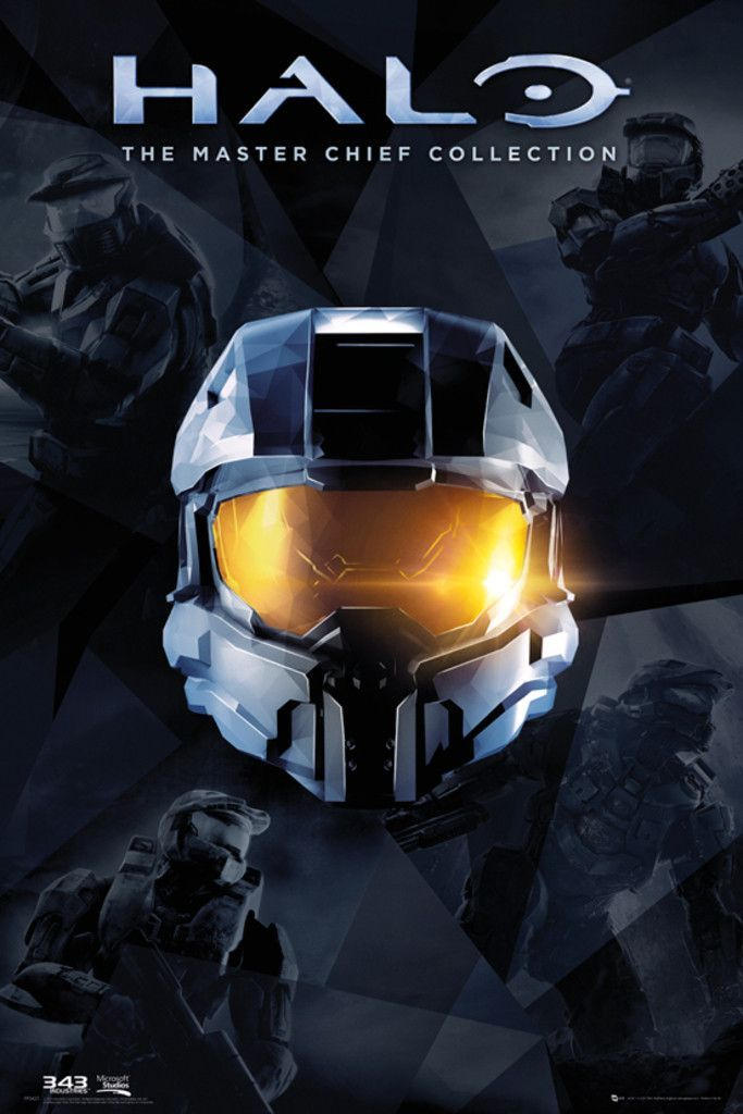 Halo Master Chief Collection Official Poster Halo Master Chief Halo Master Chief Collection Master Chief