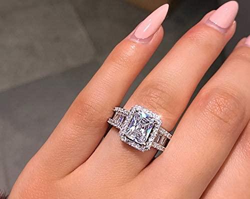 اشتري اونلاين بأفضل الاسعار بالسعودية سوق الان امازون السعودية خاتم خطوبة من الفضة الإست Silver Wedding Jewelry Womens Engagement Rings Engagement Ring Sizes