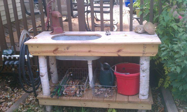 Great idea for outside garden sink   Garden sink, Sink ...