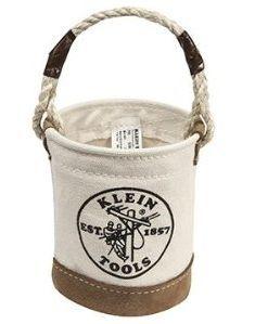 Klein Tool Canvas Bags Tools Mini Bucket Bag Leather Bottom Item Klein009