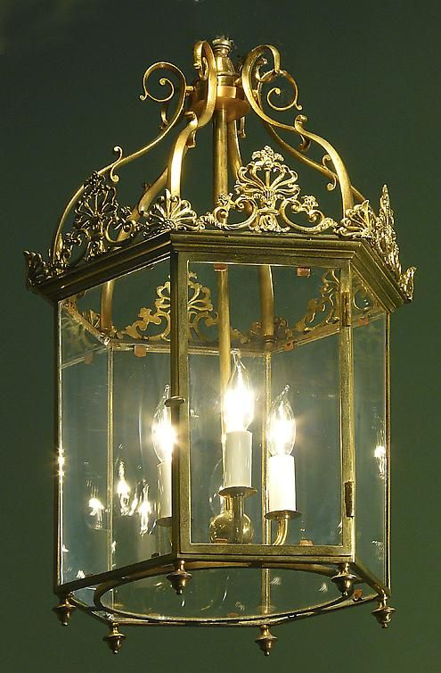 A 19th Century Five-Arm Brass Hall Lantern - Hyde Park Antiques, Ltd.