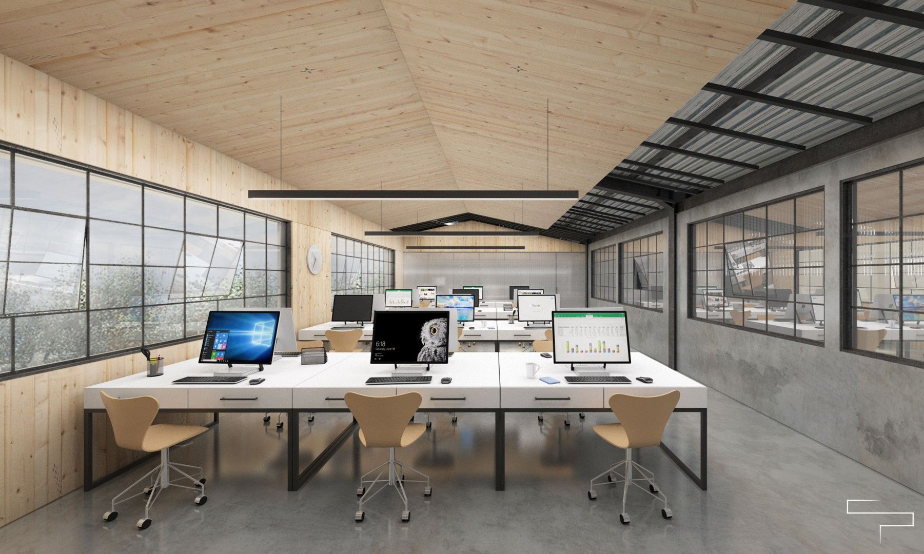 Industrial, Modern - Working Space - Abc Office - Jakarta