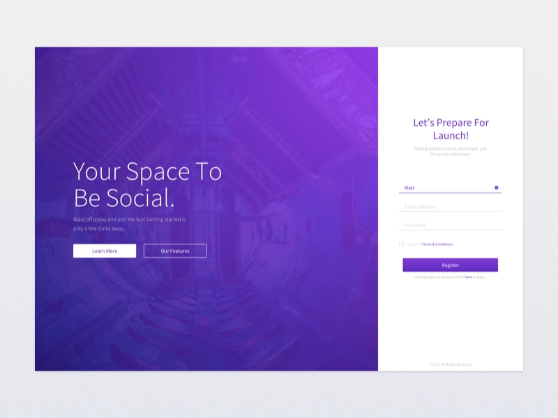 Minimal Tech Login Page Aplikacje, Inspirujące