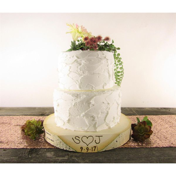 Personalized Wood Slice Cake Stand Personalized Cake Stand Stump Cake... ($28)  sc 1 st  Pinterest & Personalized Wood Slice Cake Stand Personalized Cake Stand Stump ...