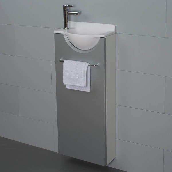 Mikro long gauche petit meuble lave mains wc for Meuble lave mains ikea
