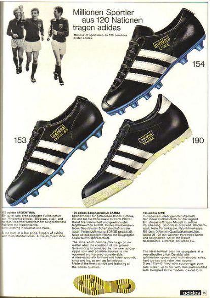 7698066b48b8 German Adidas Catalogue, 1968. Adidas Samba. Adidas Argentinia. Adidas Uwe.   adidassamba  adidasargentinia  adidasuwe
