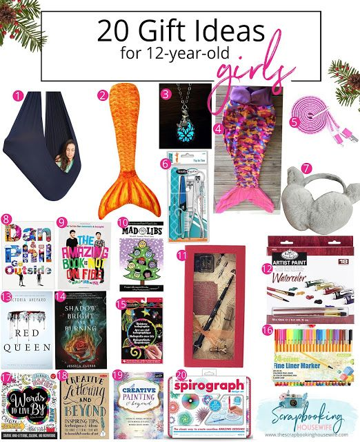The Scrapbooking Housewife: 20 GIFT IDEAS FOR 12-YEAR-OLD TWEEN GIRLS - 20 GIFT IDEAS FOR 12-YEAR-OLD TWEEN GIRLS GIFT GUIDE Gifts Ideas