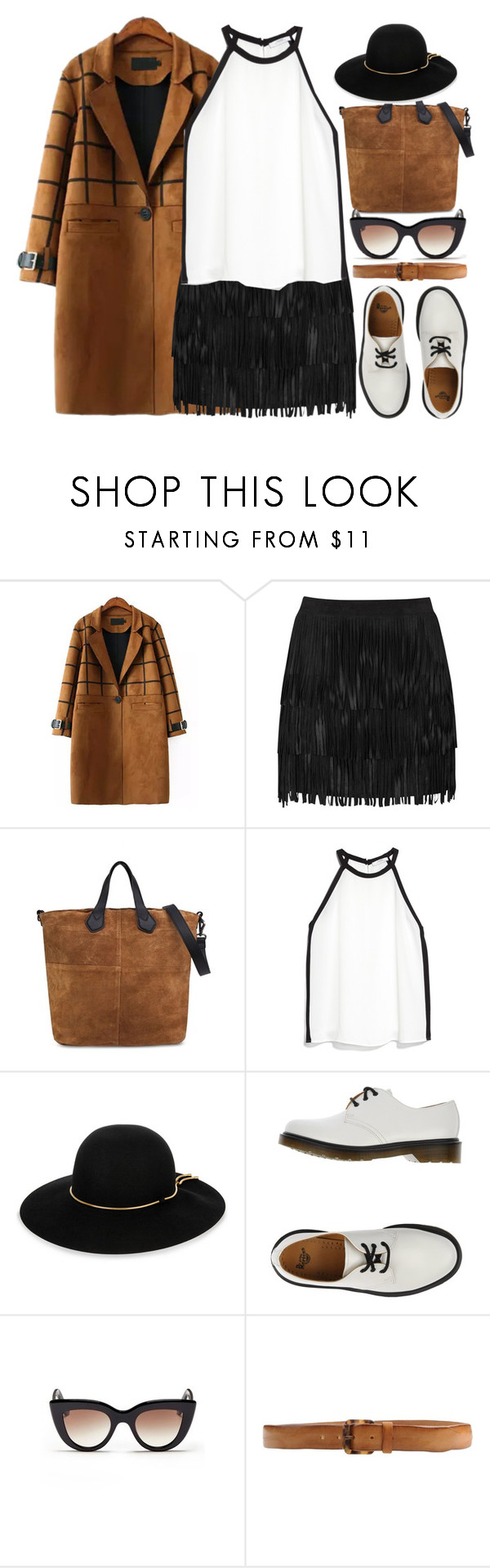"""Hey Paper Works"" by jiabao-krohn ❤ liked on Polyvore featuring Alice + Olivia, MANGO, Lanvin, Dr. Martens, E L L E R Y and Orciani"