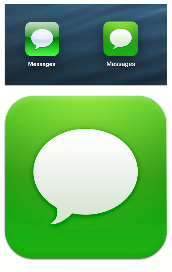 iOS 7 Messages icon by Tim Green, via Behance in 2020