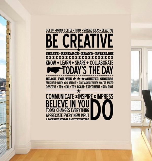 dirtbin designs Cool office spaces MANIFESTO {self discovery - stickers dans cette maison