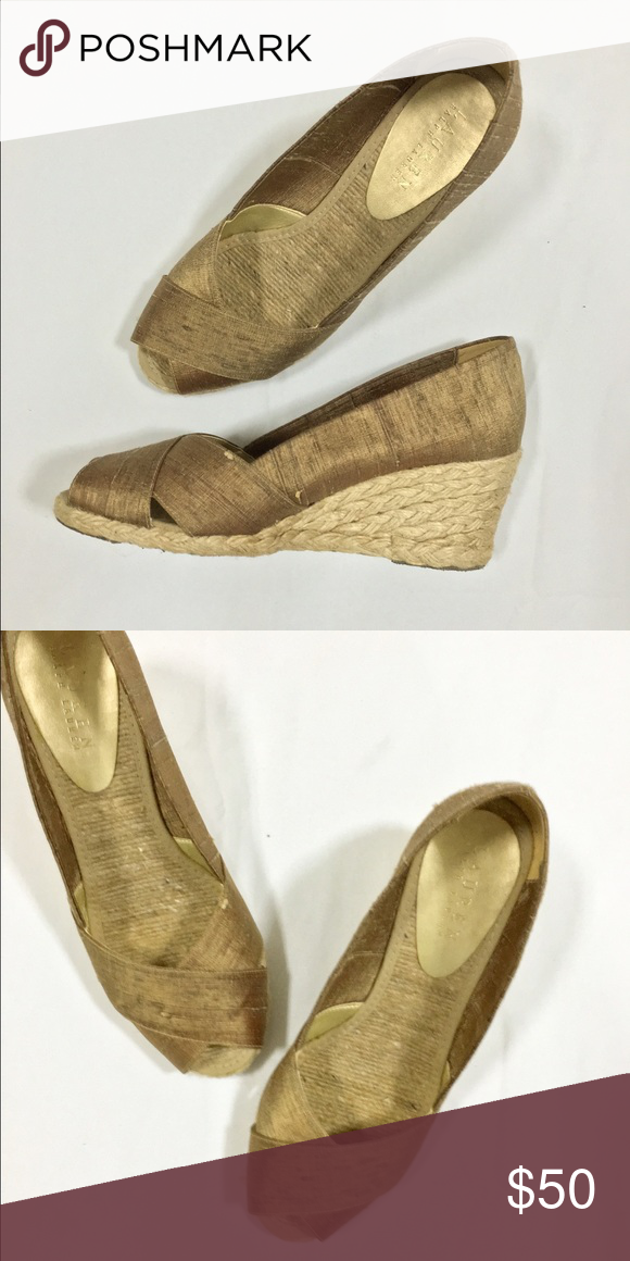 Ralph Lauren wedges Some wear on soles but in good condition, minimally worn Ralph Lauren Shoes Wedges