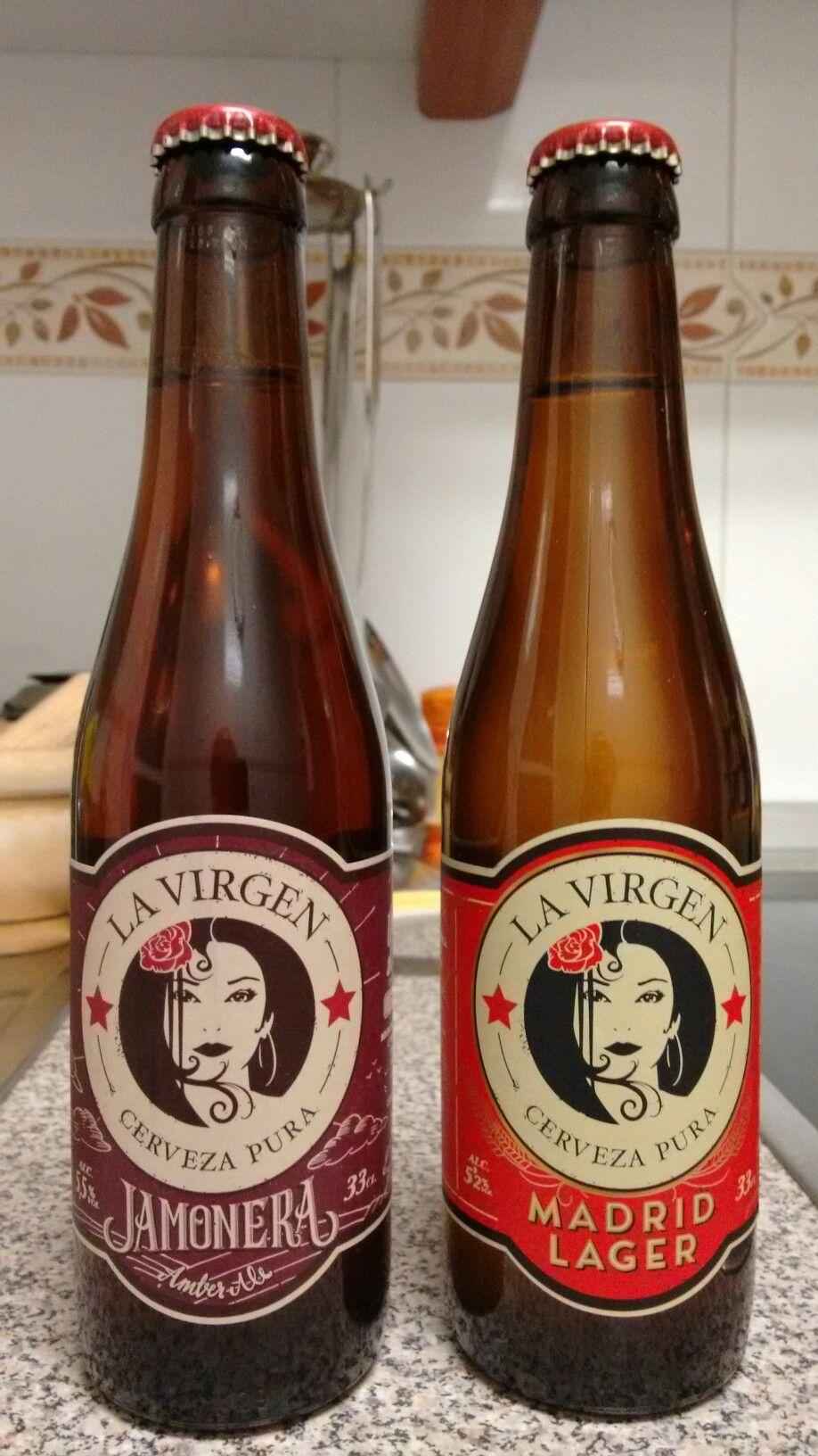 Cervezas Artesanas La Virgen Madrid Lager Y Jamonera Cerveja