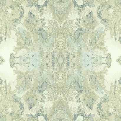 Sample Inner Beauty Wallpaper In Teal And Cream Design By