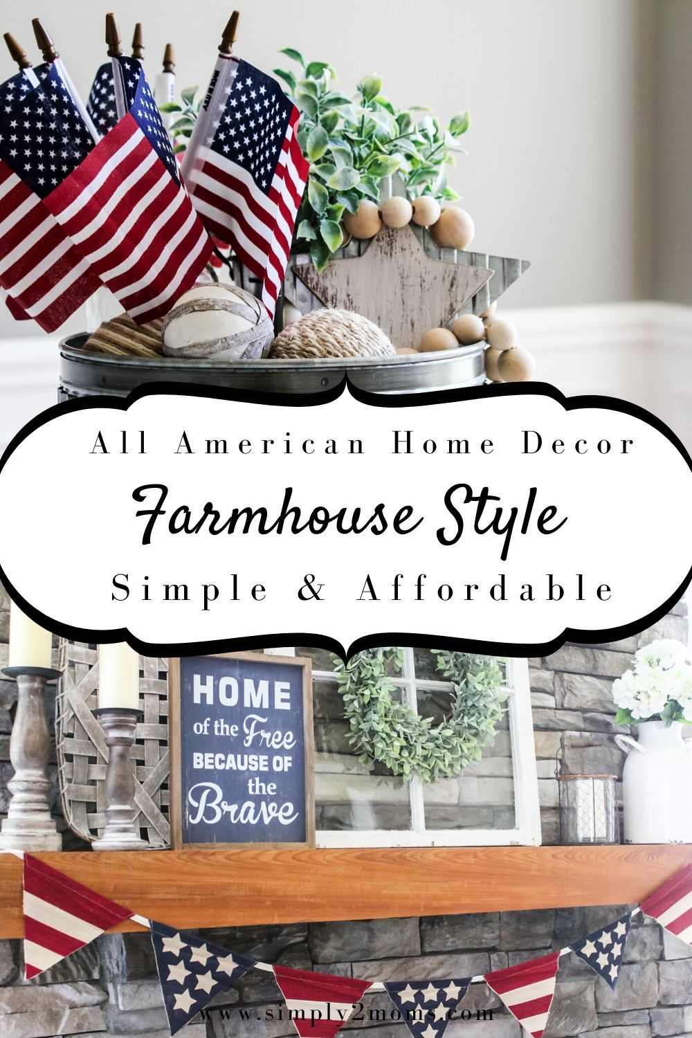 Red, white, and blue are always in style! Celebrate America with simple and affordable patriotic home decor ideas. Inspiration to show your patriotism. #patrioticdecor #redwhiteandblue #fourthofjuly #homedecor #flagday #memorialday #america #patriotism