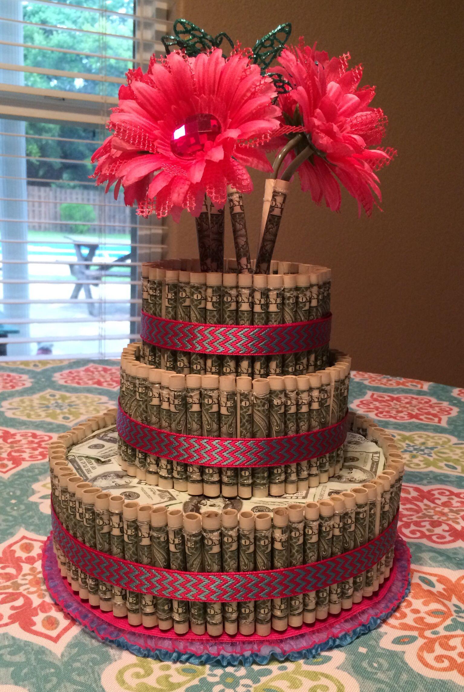 Graduation Money Cake Fun Gifts Money Birthday Cake