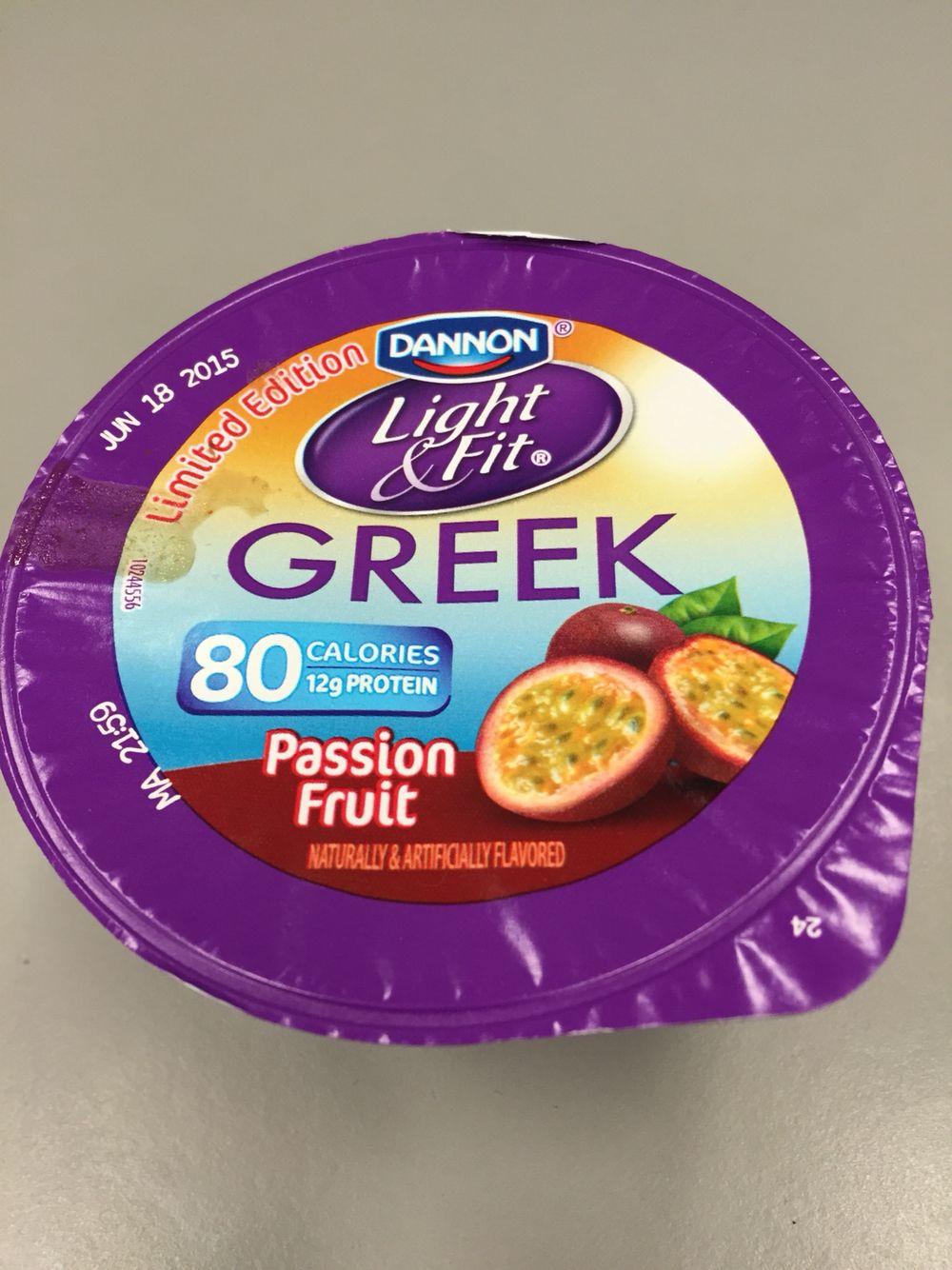 Dannon Light U0026 Fit Greek Yogurt Passion Fruit