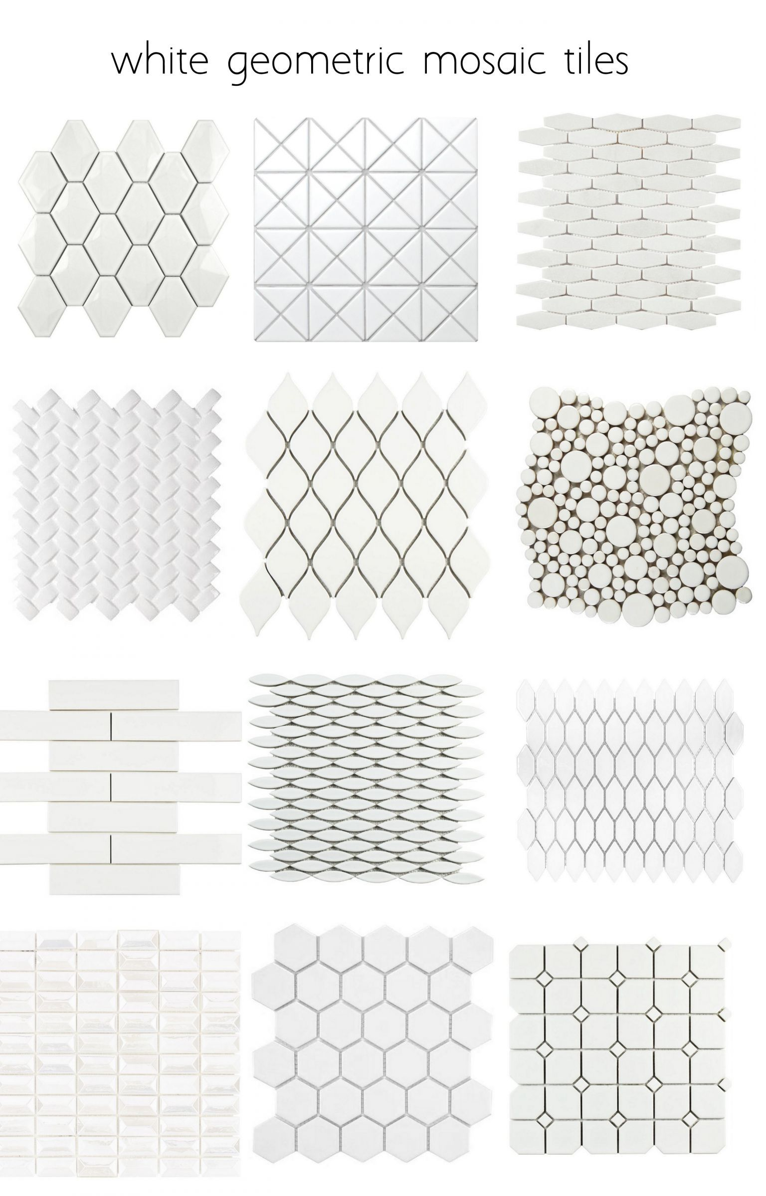 white geometric tiles many more patterns polymer textures