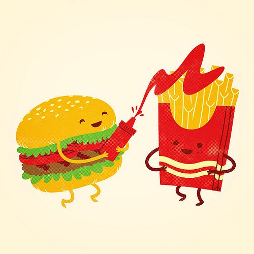 Burger And Fries Having Some Fun Imagenes De Hamburguesas Hamburguesas Dibujos Papas Fritas Dibujo