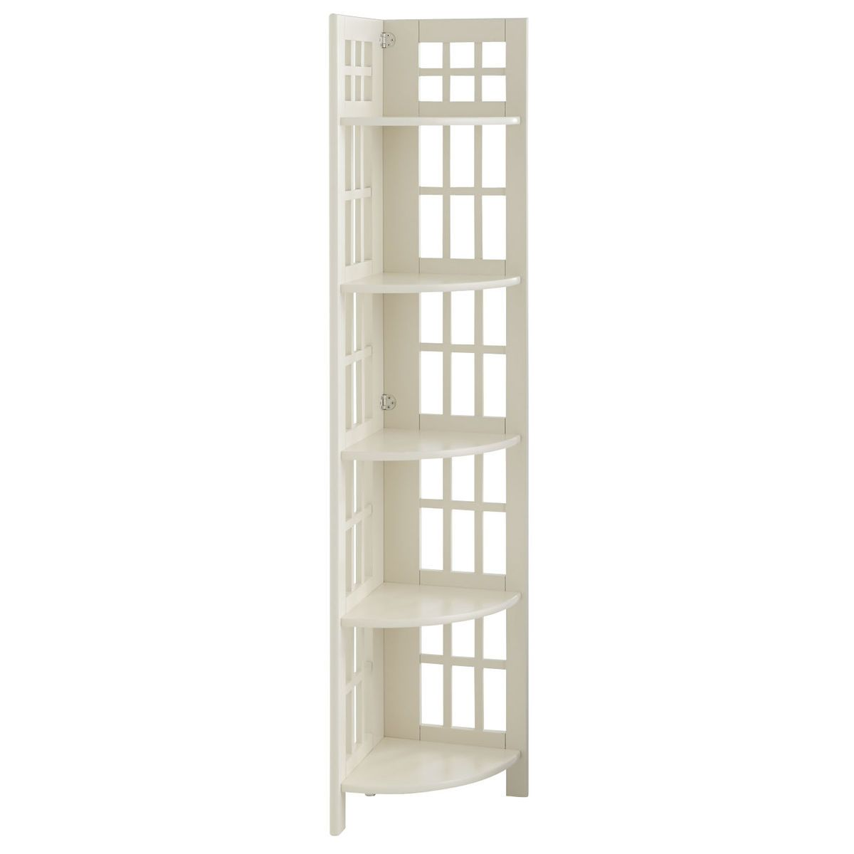 Fretted Tall Corner Shelf Antique White Tall Corner Shelf Corner Shelves Shelves