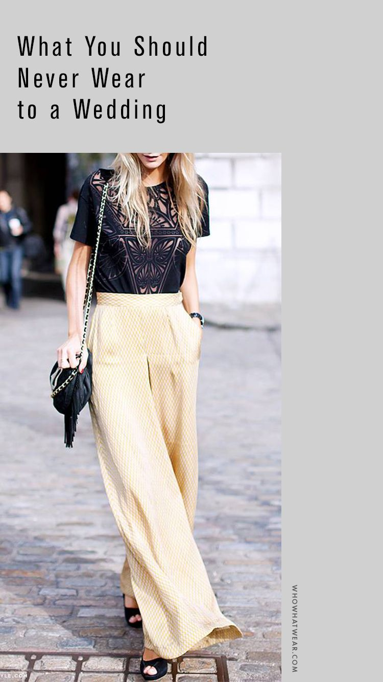 What You Should Never Wear To A Wedding How To Wear Culottes Summer Wedding Attire Guest How To Wear