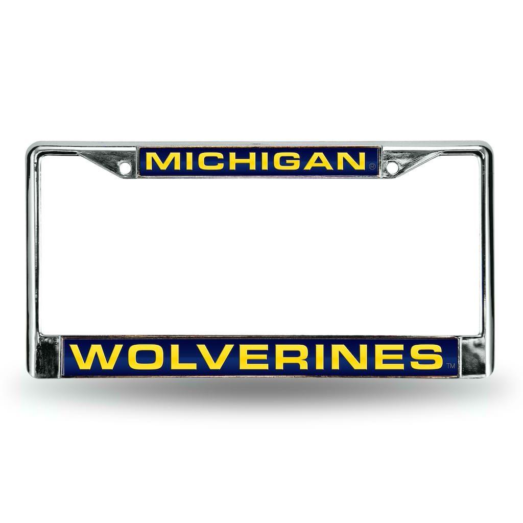 Michigan Wolverines License Plate Frame, Blue | Michigan wolverines ...