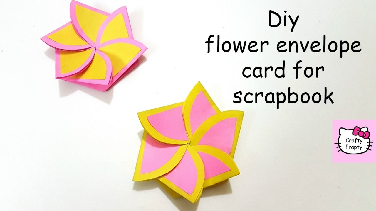 Diy Flower Envelope Card Tutorial Tutorial For Scrapbook