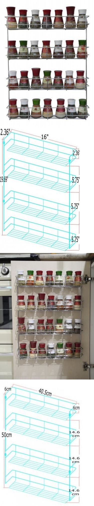 Spice Jars And Racks 20646: 4 Tier Spice Rack   Cabinet Door And Wall  Mountable