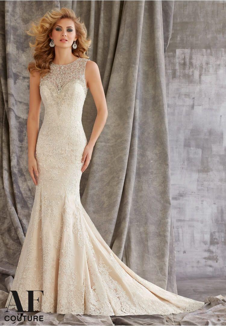 Most Gorgeous High Neck Wedding Dresses | Crystal wedding dresses ...