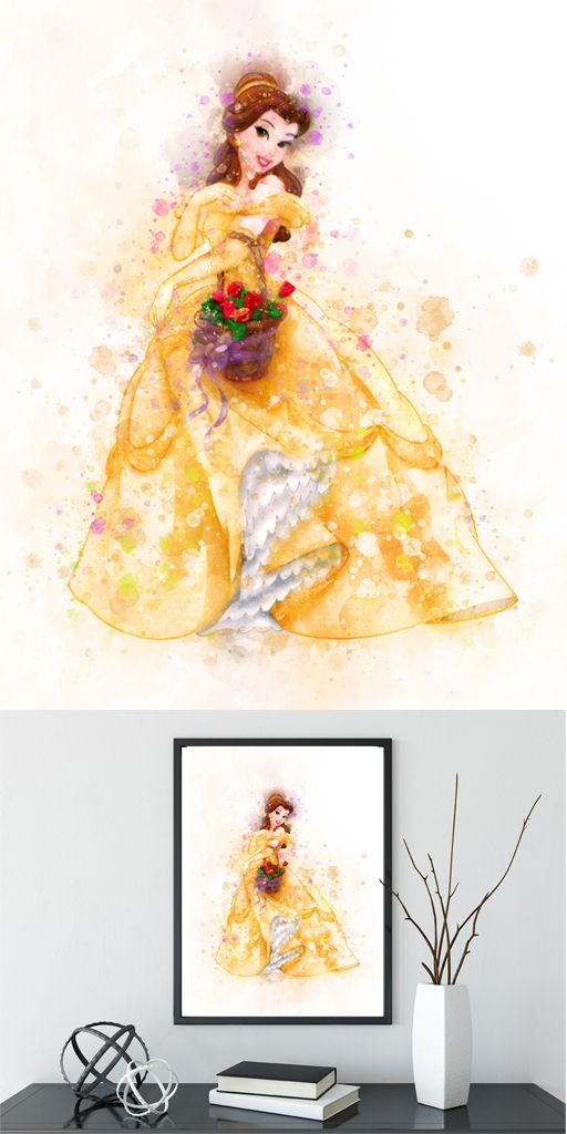 PRINCESS BELLE beauty and the beast A4 POSTER WALL ART