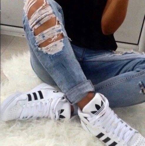 adidas, cool, fashion, girls, jeans, shoes