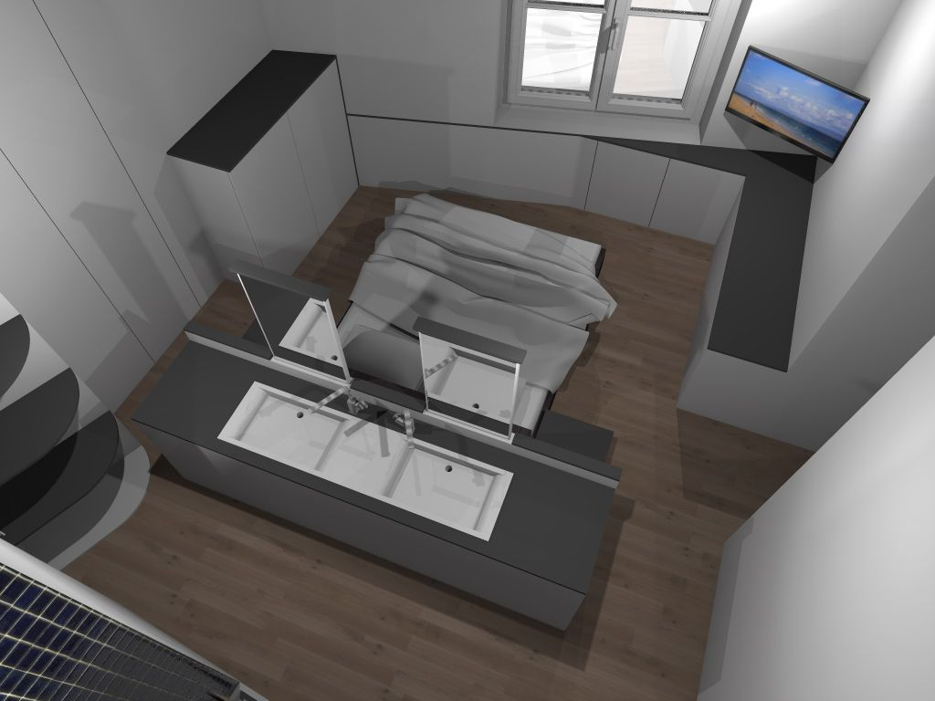 Faire d 39 une chambre de taille moyenne une suite avec wc for Taille chambre parentale