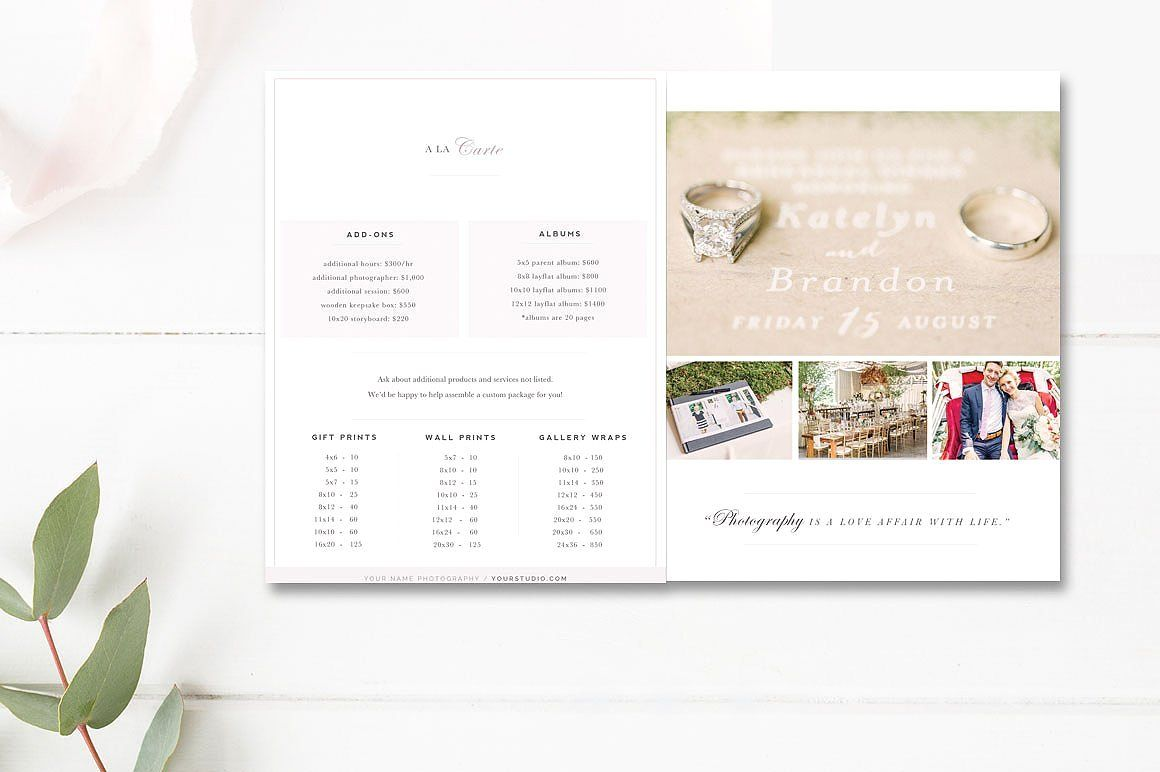 Indesign Template Wedding Photography Magazine Template