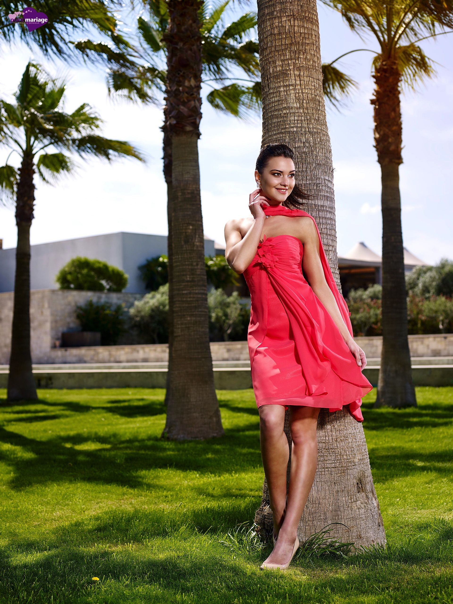 Robe cocktail herve mariage