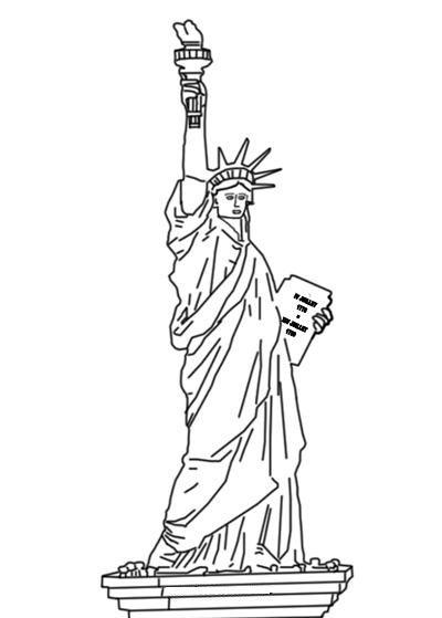 Estatua de la Libertad para colorear | DIBUJOS DE VIAJES | Pinterest