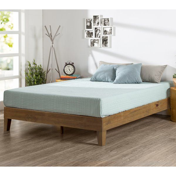 The Zinus Deluxe Wood Platform Bed Is Beautifully Simple