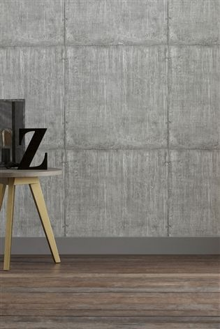 Buy Paste The Wall Large Concrete Block Wallpaper From The Next Uk Online Shop Powder Room Design Striped Wallpaper Wallpaper
