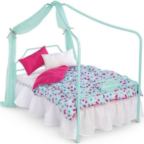 American Girl TRULY ME CANOPY BED for 18 Doll Blanket Pillow Furniture NEW NIB! | eBay