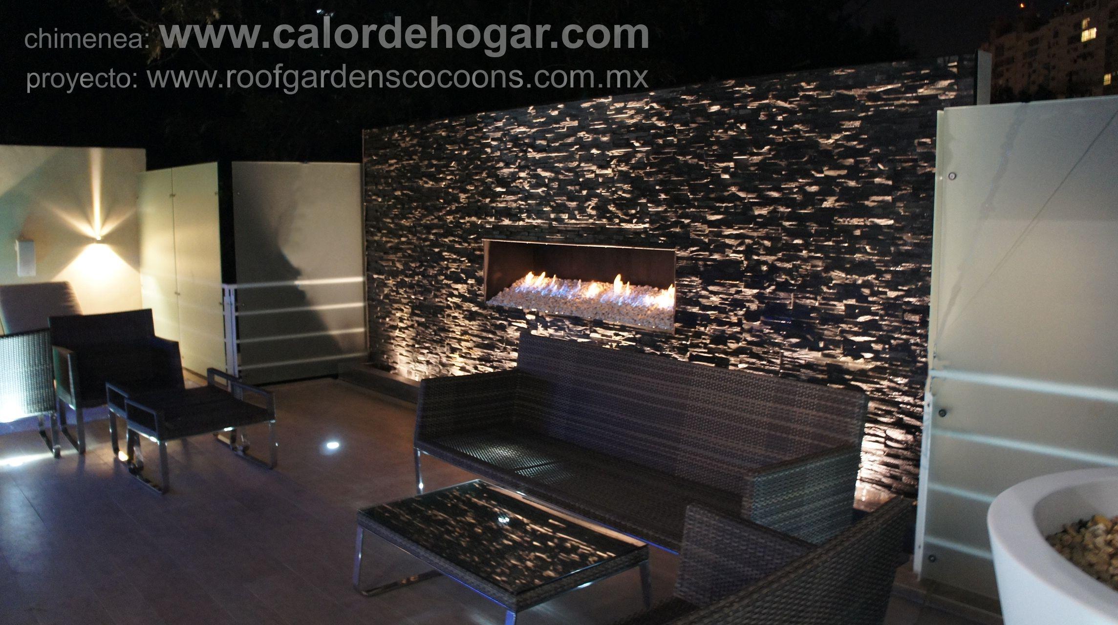 Pin de calor de hogar en chimeneas contemporaneas de gas for Lenos a gas modernos